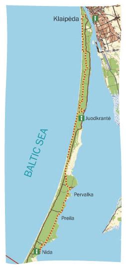 THE CURONIAN SPIT TRAIL - Klaipėda map